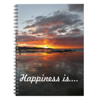 Caderno para pensamentos felizes