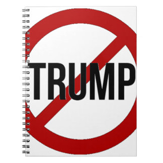 Caderno Pare o Anti-Trunfo de Donald Trump