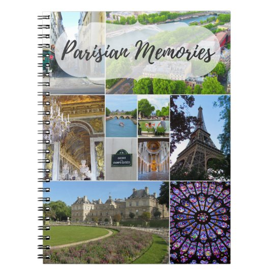 "Caderno ""Parisian Memories"""