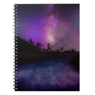 Caderno Parque nacional de árvore de Joshua