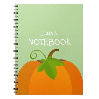 Caderno Parte superior da abóbora