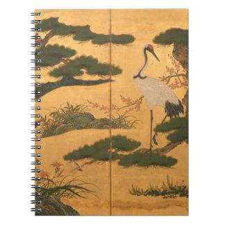 Caderno Pássaros e flores das quatro estações