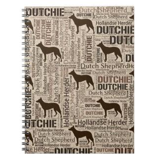 Caderno Pastor holandês - pastor de Hollandse - Dutchie
