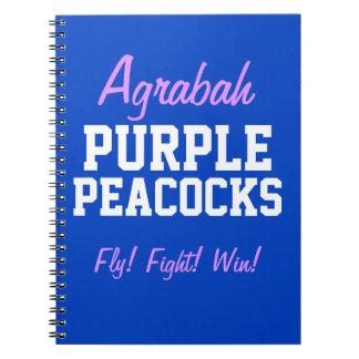 Caderno Pavões do roxo de Agrabah