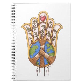 Caderno peace_hamsa