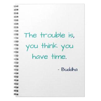 Caderno Pense que você tem citações inspiradores sábias da