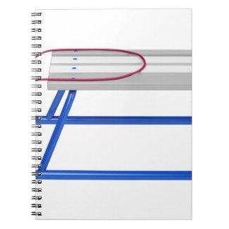 Caderno Pequeno trenó no branco
