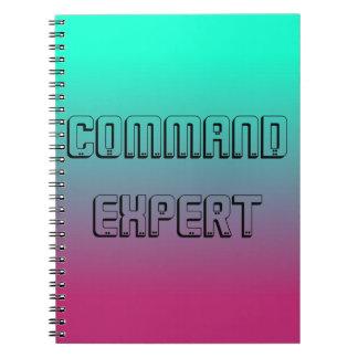 Caderno perito do comando para Gamers