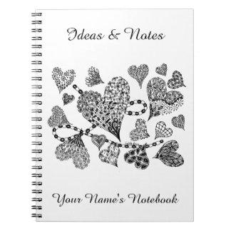 Caderno personalizado amor de Listakora