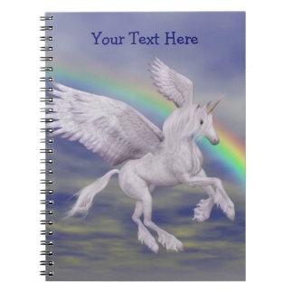 Caderno personalizado arco-íris do unicórnio do vô