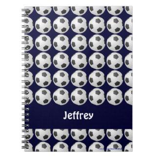Caderno personalizado da bola de futebol