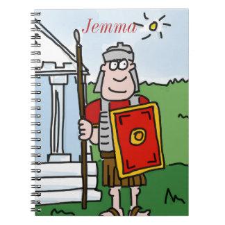 """Caderno personalizado da história dos """"romanos"""""""