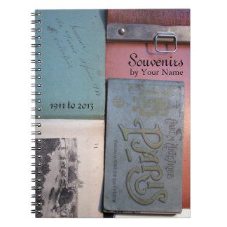Caderno personalizado Paris 2 do de das lembranças