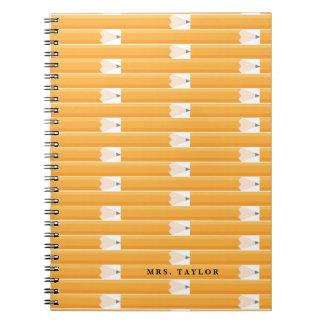 Caderno personalizado professor do lápis