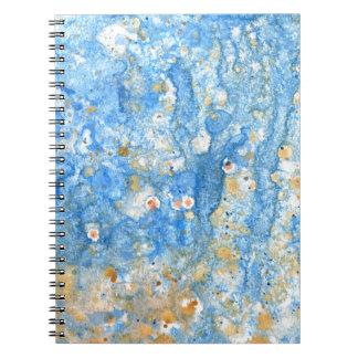 Caderno Pintura azul abstrata