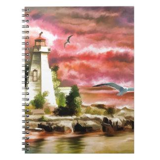 Caderno pintura da água do farol
