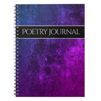 Caderno Poesia azul cor-de-rosa roxa chique do escritório