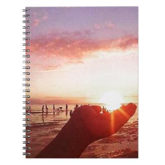 Caderno Por do sol maravilhoso e incrível nas Filipinas