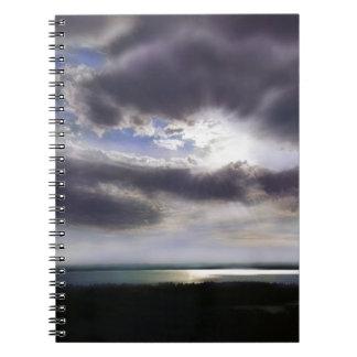 Caderno Por do sol sobre o lago