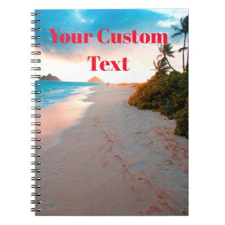 Caderno Por do sol tropical do Sandy Beach