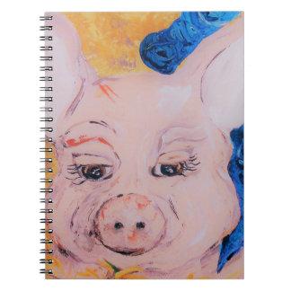 Caderno Porco da fita azul