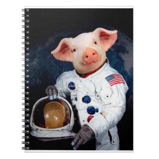 Caderno Porco do astronauta - astronauta do espaço