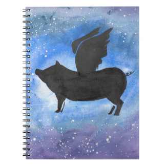 Caderno Porco majestoso do vôo