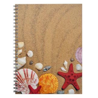 Caderno Porta copos da pedra do Sandy Beach da estrela do