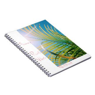 Caderno positivo ensolarado das impressões