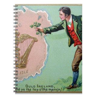Caderno Poster da ilha dos erin do dia de Patrick de santo