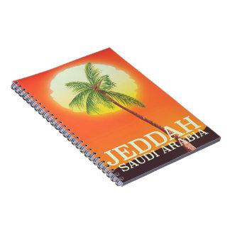 Caderno Poster das férias de Jeddah Arábia Saudita
