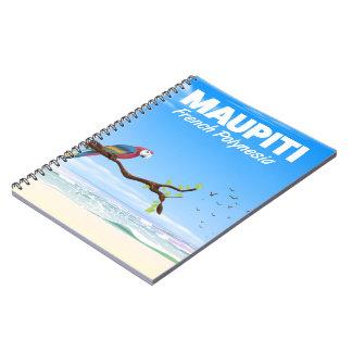 Caderno Poster de viagens de Maupiti Polinésia francesa