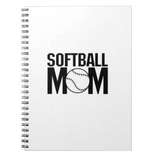 Caderno Presente engraçado da mamã do softball para