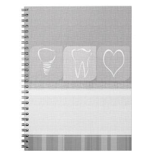 Caderno Presentes de linho do dentista do implante do