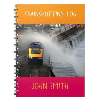 Caderno Primeiro registro do lustre do trem de Great