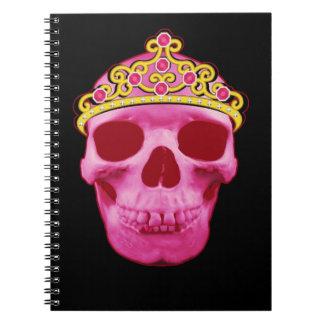 Caderno Princesa cor-de-rosa Crânio