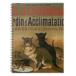 Caderno Propaganda francesa do vintage - gatos