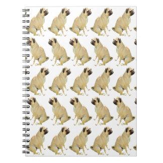 Caderno Pugs brancos