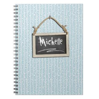 Caderno Quadro de suspensão ID397 azul