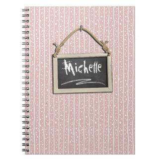 Caderno Quadro de suspensão ID397 cor-de-rosa