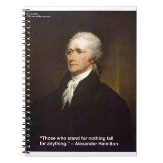Caderno Queda de Hamilton para qualquer coisa presente das