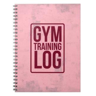 Caderno Registro do treinamento do Gym