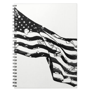 Caderno resistido da bandeira americana