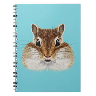 Caderno Retrato ilustrado do Chipmunk.