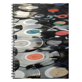 Caderno retro dos álbuns de registros do vintage