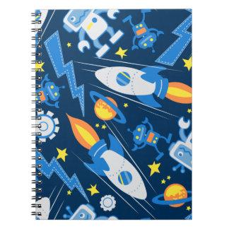 Caderno Robô de espaço