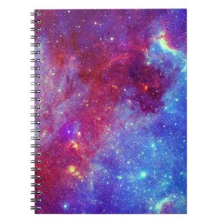 Caderno roxo azul da nebulosa