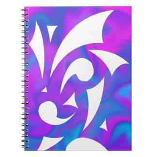 Caderno roxo da fantasia