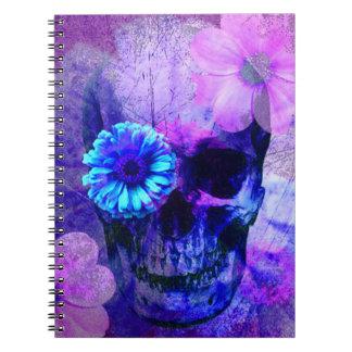 Caderno roxo do crânio