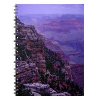 Caderno roxo do Grand Canyon